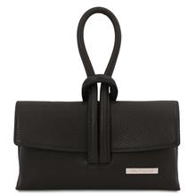 Plic dama negru din piele naturala Tuscany Leather