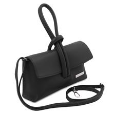 Plic negru din piele naturala Tuscany Leather