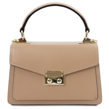 Geanta de dama, din piele naturala sampanie, marime mica, Tuscany Leather, TL Bag