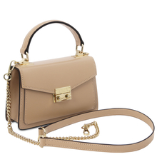 Geanta mana piele naturala sampanie, marime mica, Tuscany Leather, TL Bag