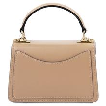 Geanta de mana piele naturala sampanie, marime mica, Tuscany Leather, TL Bag