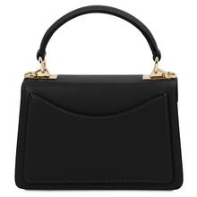 Geanta mana piele naturala neagra, marime mica, Tuscany Leather, TL Bag