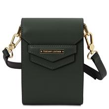 Geanta de dama, din piele naturala verde, Tuscany Leather, TL Bag