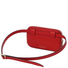 Borseta de brau dama piele naturala rosie, Tuscany Leather