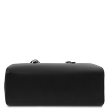 Geanta dama de umar, din piele naturala neagra, Tuscany Leather, TL Bag
