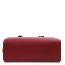 Geanta dama de umar, din piele naturala rosie, Tuscany Leather, TL Bag