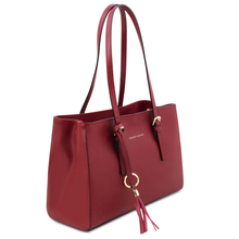 Geanta de dama umar, piele naturala rosie, Tuscany Leather, TL Bag
