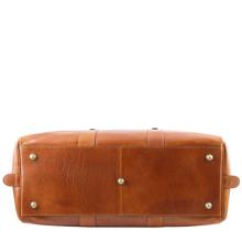 Geanta de voiaj din piele maro inchis, Tuscany Leather,  Voyager Travel