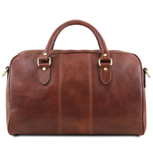 Geanta voiaj din piele naturala maro, marime mica, Tuscany Leather, Lisbona