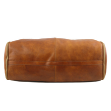 Geanta pentru costum, piele naturala coniac, Tuscany Leather, Antigua