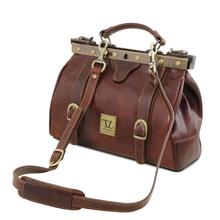 Geanta Tuscany Leather din piele rosie  doctor gladstone  Monalisa