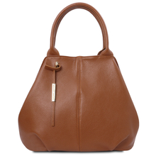 TL Bag Soft leather tote Cognac
