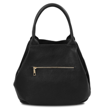 TL Bag Soft leather tote Black