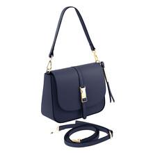 Geanta dama din piele albastru inchis Tuscany Leather, Nausica