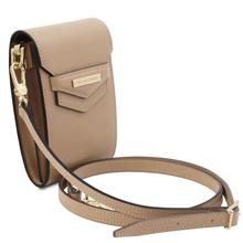 Geanta de dama, din piele naturala sampanie, Tuscany Leather, TL Bag