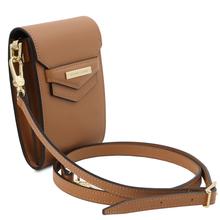 Geanta de dama, din piele naturala coniac, Tuscany Leather, TL Bag