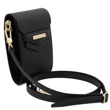 Geanta de dama, din piele naturala neagra, Tuscany Leather, TL Bag