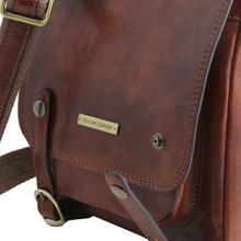 Geanta barbati din piele naturala Tuscany Leather, honey, Roby