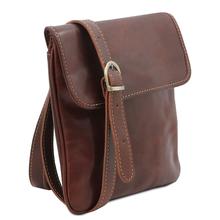 Geanta barbati din piele naturala Tuscany Leather, maro, Joe