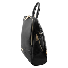 Rucsac dama din piele naturala Tuscany Leather, negru, TL Bag