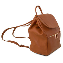 Rucac dama din piele naturala Tuscany Leather, coniac