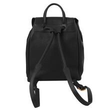 Rucsac dama din piele naturala Tuscany Leather, negru
