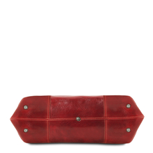 Geanta dama de umar din piele naturala Tuscany Leather, rosie, Annalisa