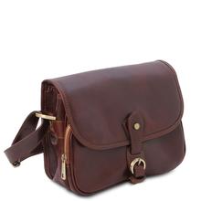 Geanta dama din piele naturala maro, Tuscany Leather, Alessia