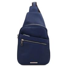 Albert Soft leather crossover bag Dark Blue