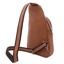 Albert Soft leather crossover bag Cognac