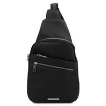 Albert Soft leather crossover bag Black