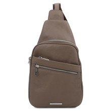 Albert Soft leather crossover bag Dark Taupe
