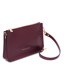 Plic dama bordo din piele naturala, Tuscany Leather, Cassandra