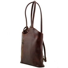 Geanta Tuscany Leather piele light taupe Patty
