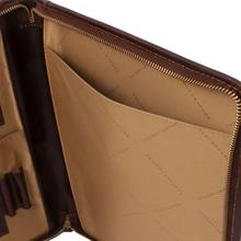 Mapa din piele naturala Tuscany Leather, neagra, LuigiS