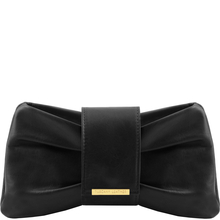 Plic dama din piele naturala Tuscany Leather, negru, Priscilla