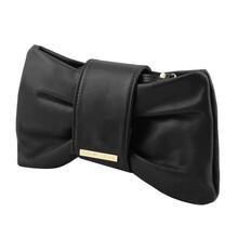 Plic din piele naturala Tuscany Leather, negru, Priscilla