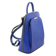 Rucsac dama din piele naturala Tuscany Leather, albastru