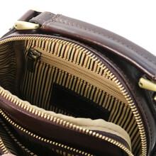 Geanta de umar barbati din piele naturala maro inchis, Tuscany Leather, Paul