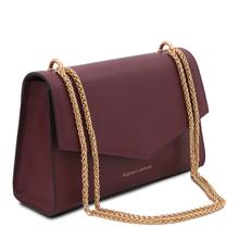 Plic elegant din piele naturala bordo, Tuscany Leather, Fortuna