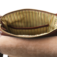 Geanta barbati din piele naturala Tuscany Leather, honey, RobyS