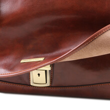 Servieta din piele naturala Tuscany Leather, neagra, MantovaS