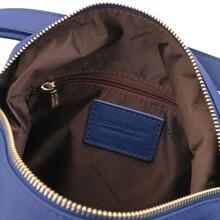 Rucsac dama convertibil in geanta, din piele albastra, Tuscany Leather