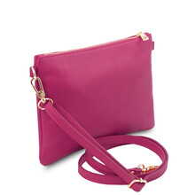 Plic dama din piele naturala fucsia, Tuscany Leather, TL Bag Soft
