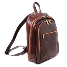 Rucsac din piele naturala neagra, Tuscany Leather, Perth