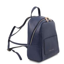 Rucsacel dama din piele naturala albastru inchis, Tuscany Leather, TL Bag