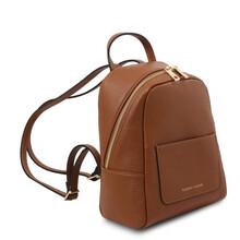 Rucsacel dama din piele naturala coniac, Tuscany Leather, TL Bag