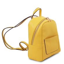 Rucsacel dama din piele naturala galbena, Tuscany Leather, TL Bag