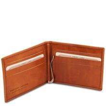 Portcard din piele naturala honey Tuscany Leather