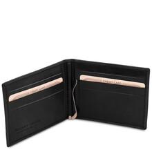 Portcard din piele naturala negru Tuscany Leather